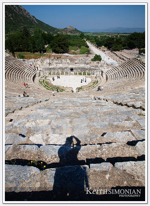View from the top of the amphitheater at Ephesus, Turkey
