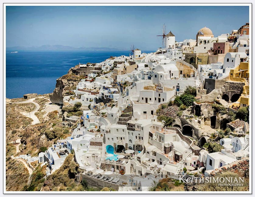 Colorful home and buildings in Santorini, Greece