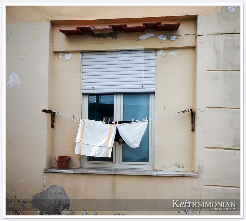 Underwear handing out to dry in Capri Italy.