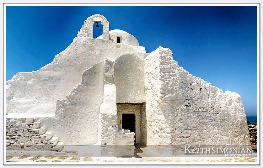 White painted Church of Paraportiani - Mykonos Greece