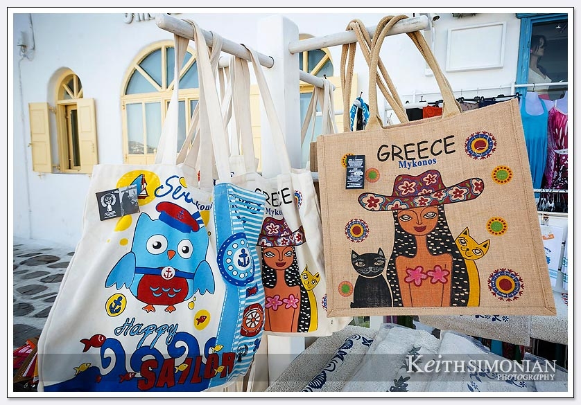 Gift shops in Mykonos, Greece