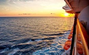 Sunset from aboard Holland American cruise ship