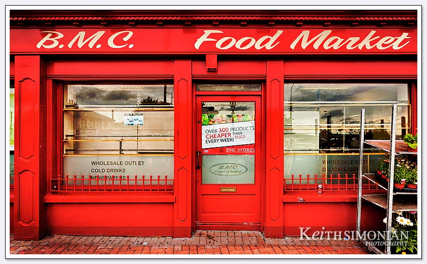 The painted red T.M.C. food market - Cobh, Ireland