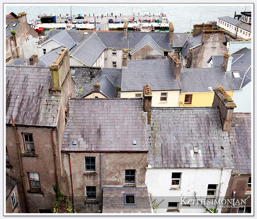 Chimneys for multiple fireplaces in Cobh, Ireland homes.