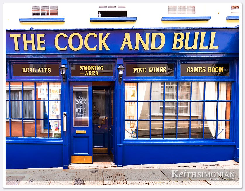 How could one pass by a place called the cock and bull and not take a photo?