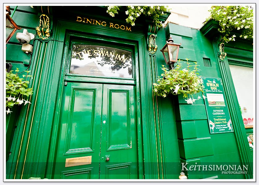 The greenest door I have ever seen - Guernsey UK.