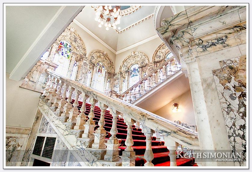 Interior stairs City Hall - Belfast Ireland