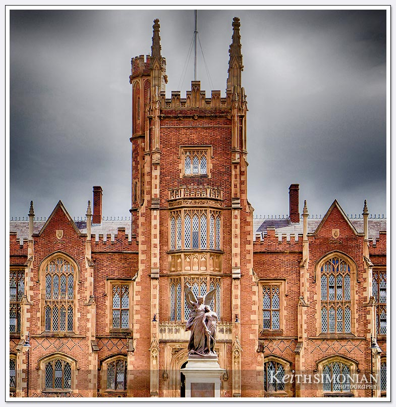 The Lanyon Building of Queen's University - Belfast Ireland