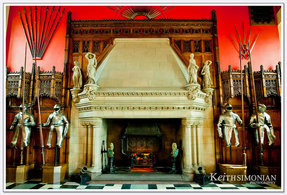 Fire place inside Edinburgh Castle