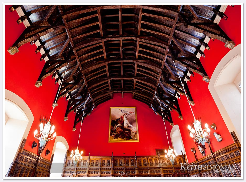 The red room inside Edinburgh Castlen