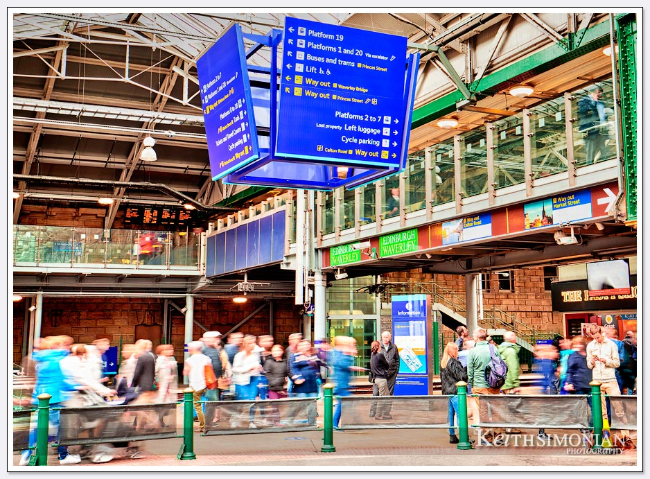 Edinburgh Waverley railway station - Edinburgh Scotland