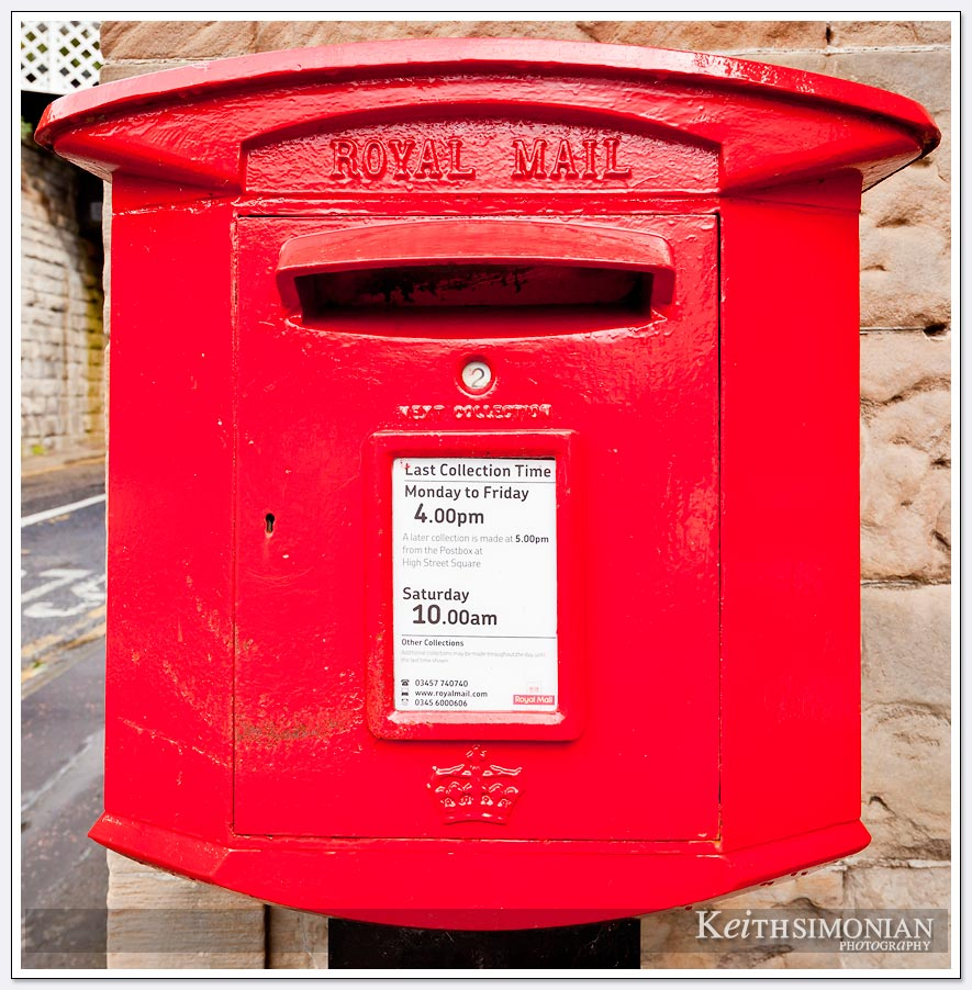 Red Royal mail box - South Queensferry Scotland