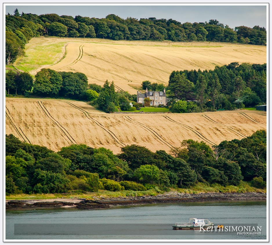 Farm house in the countryside of South Queensferry Scotland