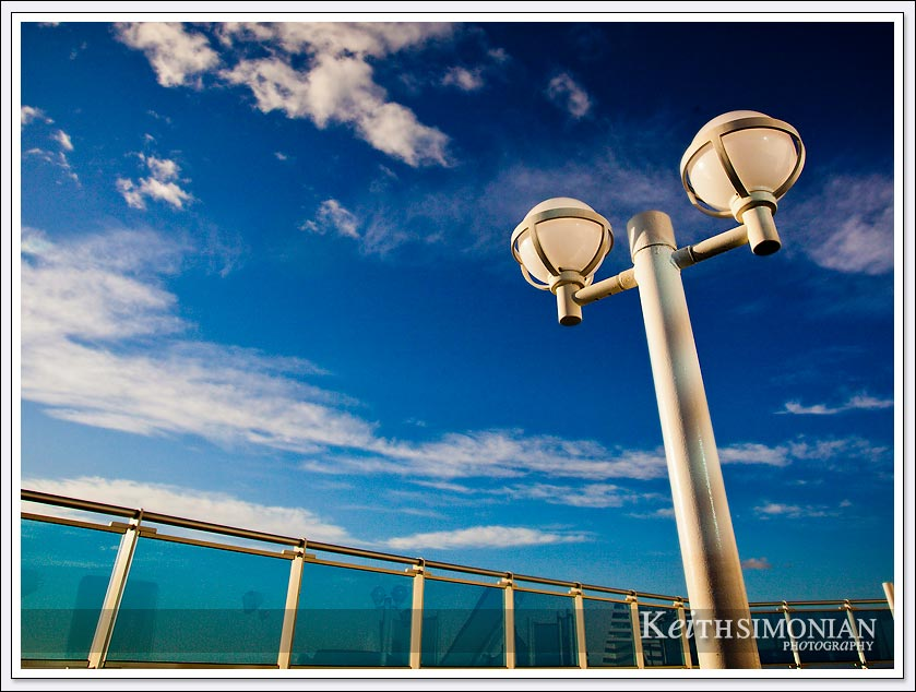 The top deck of the Caribbean Princess during a day at sea during the British Isles cruise.