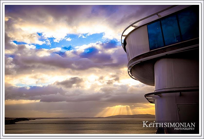 Rays of sunlight aboard the Caribbean Princess