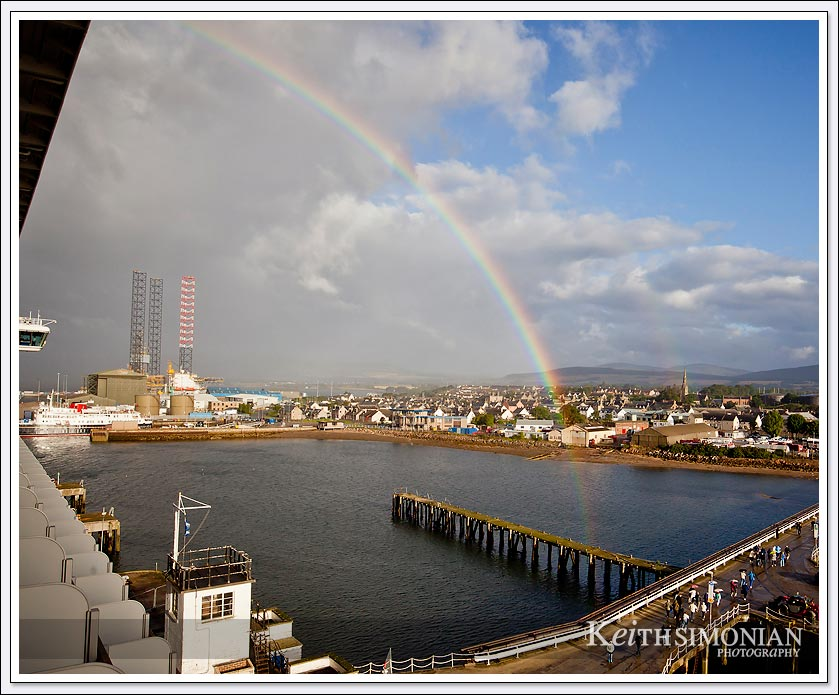 While in port at Invergordon Scotland a rainbow appeared
