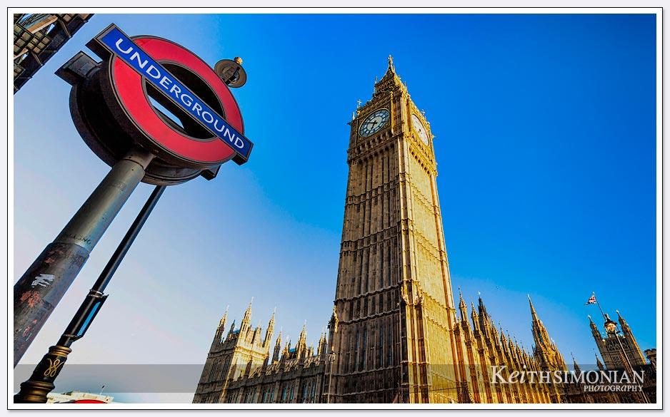 Big Ben - the Parliament building - the Underground station