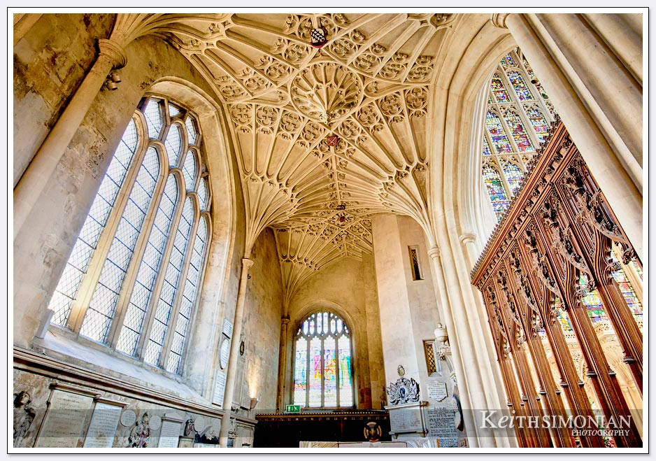 Interior windows Bath Abbey - Bath England