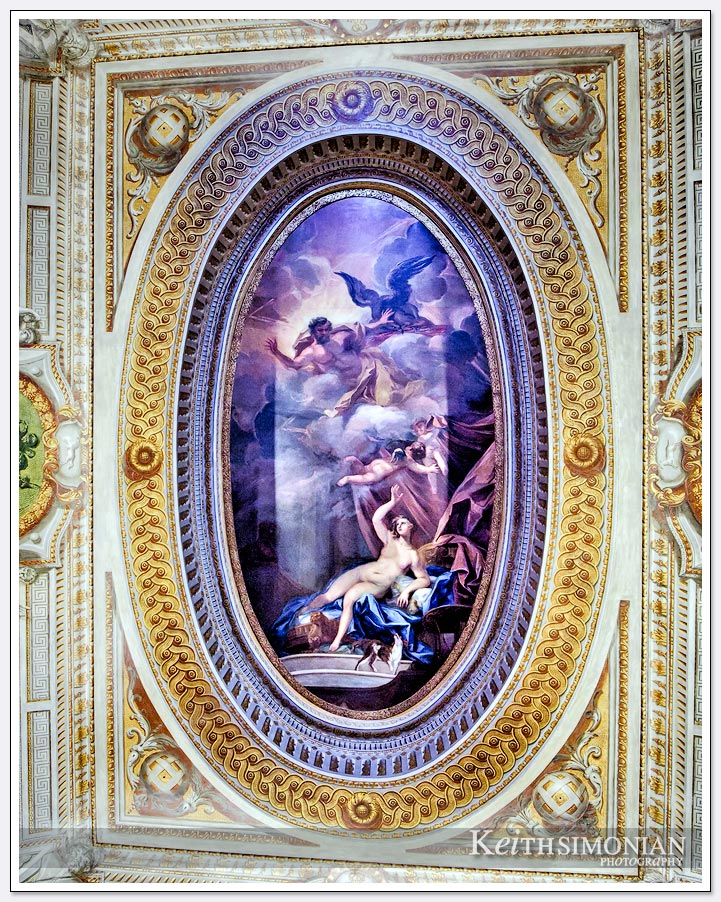 Ceiling painting in Kensington Palace - London England