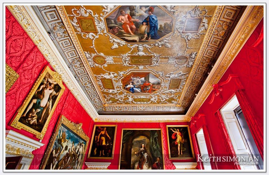 The red room in Kensington Palace - London England