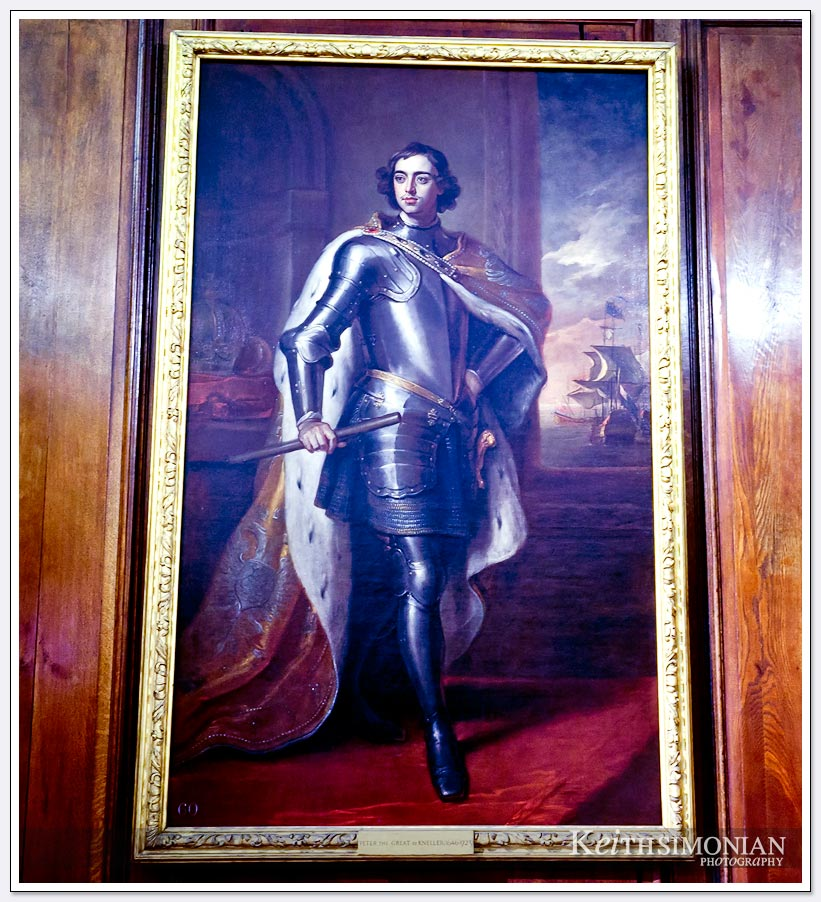 Large painting in Kensington Palace - London England