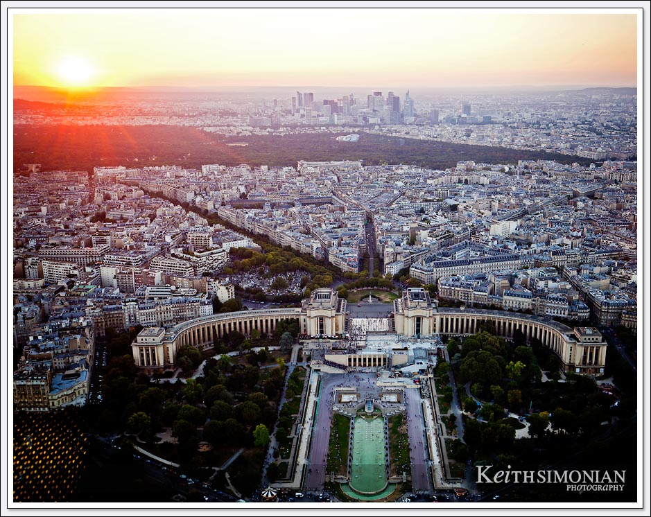 If you time you visit just right you can witness the sun setting over Paris from the top of the Eiffel Tower