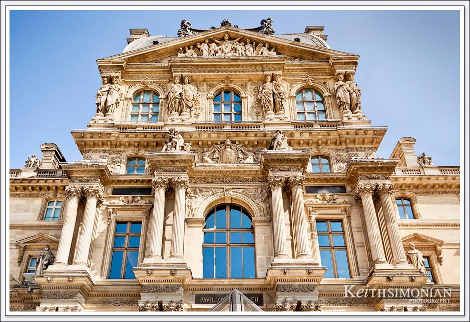 One of the several buildings that make up the Louvre Museum