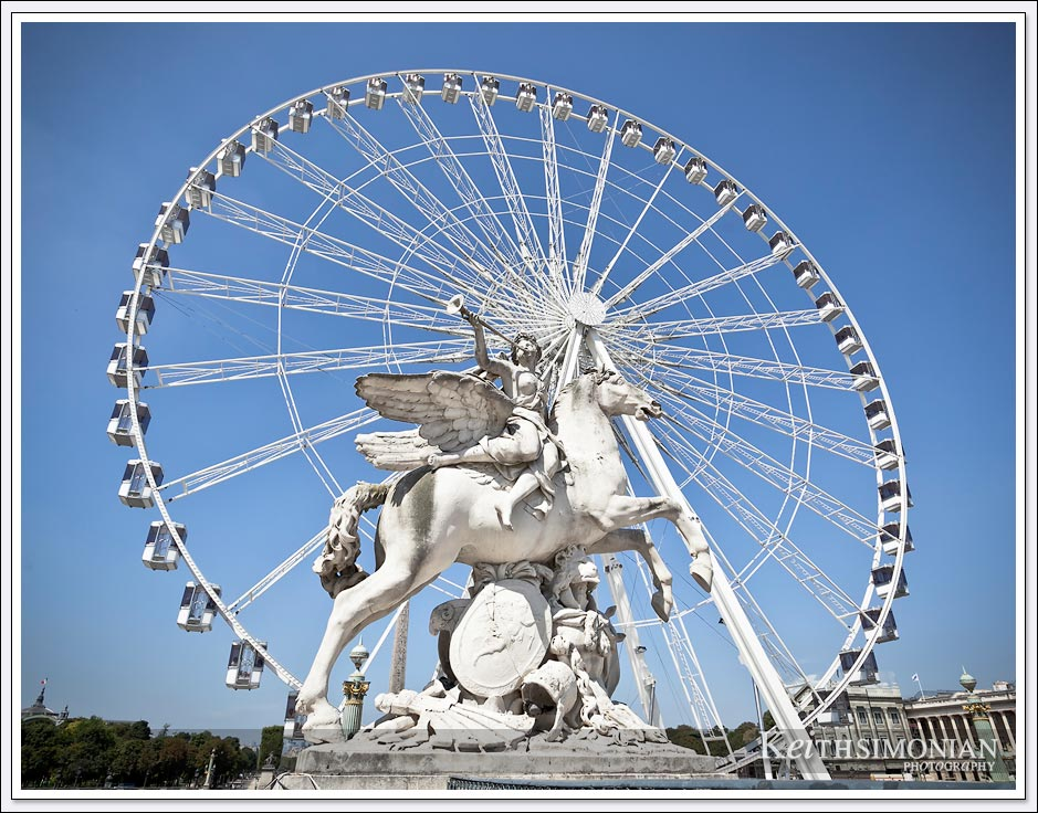 Roue de Paris on the Place de la Concorde - Paris France