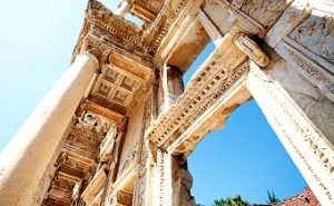 The stop in Turkey at the port city of Kusadasi involved a trip to the ancient ruins at Ephesus Turkey