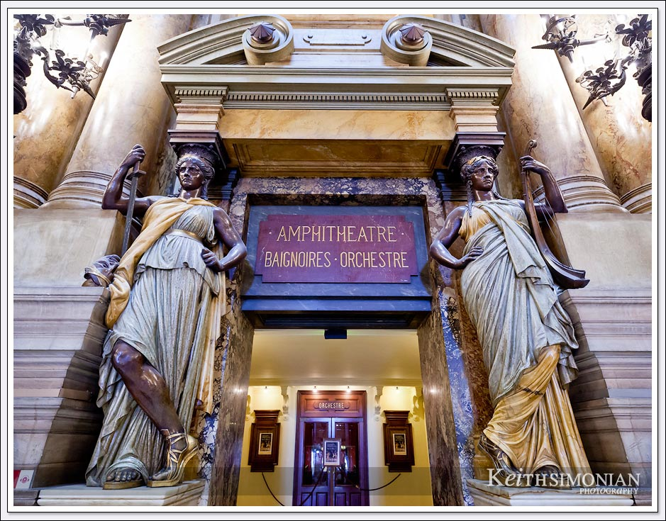 Entrance to the seating of the Palais Garnier ( Paris Opera House ) - Paris France