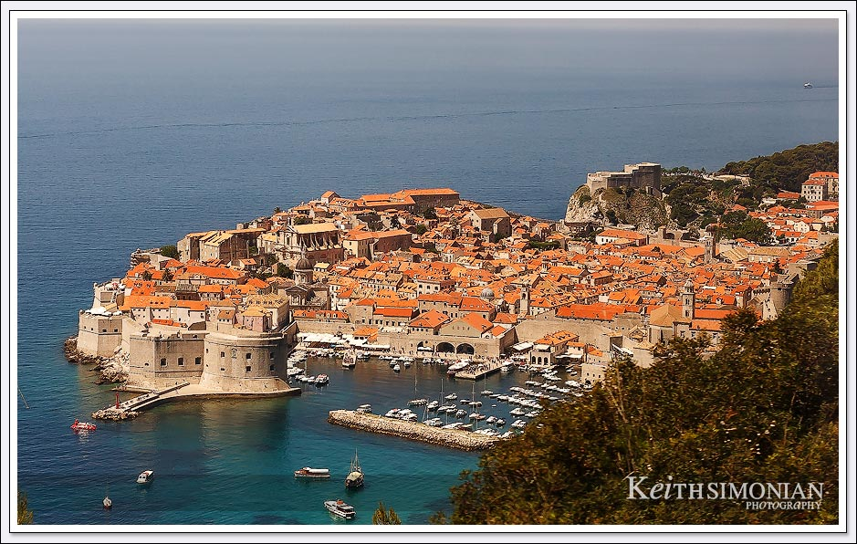 View of the Old Town portion of Dubrovnik, Croatia