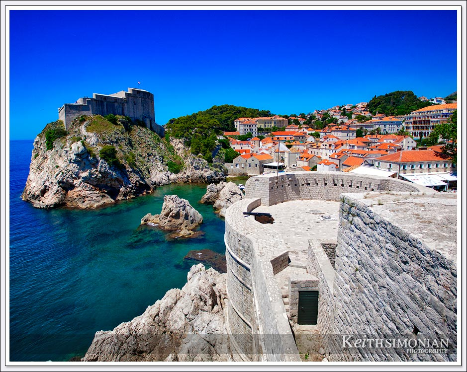 The Castle wall defends the mythical city of King's Landing - Dubrovnik, Croatia