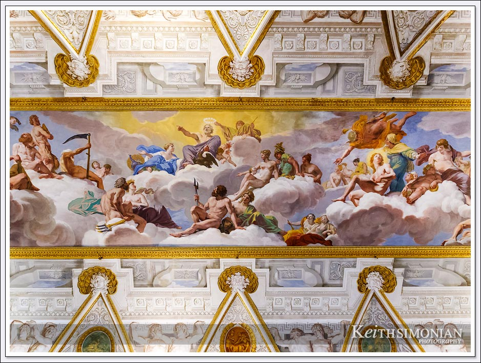 Ceiling Artwork in the Borghese Gallery - Rome Italy