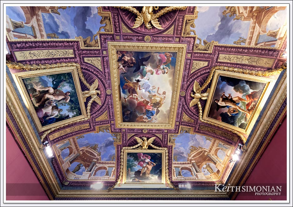 Ceiling art in the Borghese gallery Rome, Italy