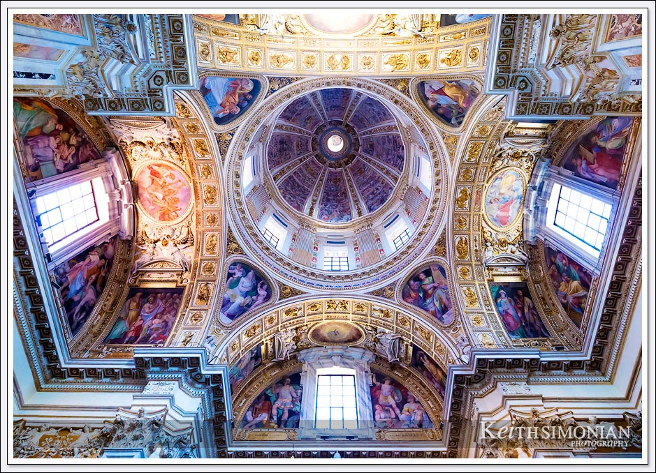The dome of the Basilica Santa Maria Maggiore - Rome Italy