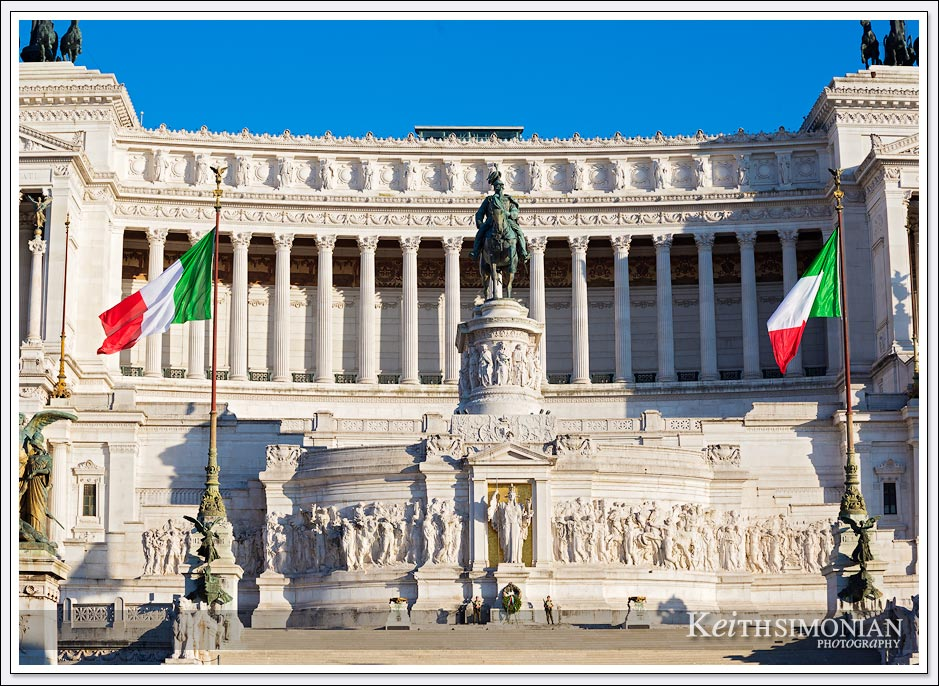 Victor Emmanuel II Monument serves as a monument to the tomb of the unknown soldier - Rome Italy