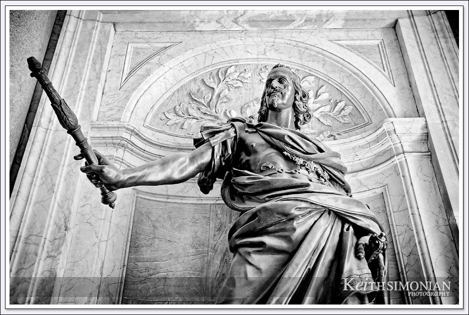 King Philip IV of Spain statue in Santa Maria Maggiore