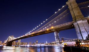 Brooklyn Bridge Night Photo with Canon 5D Mark 3 & lens cap tripod