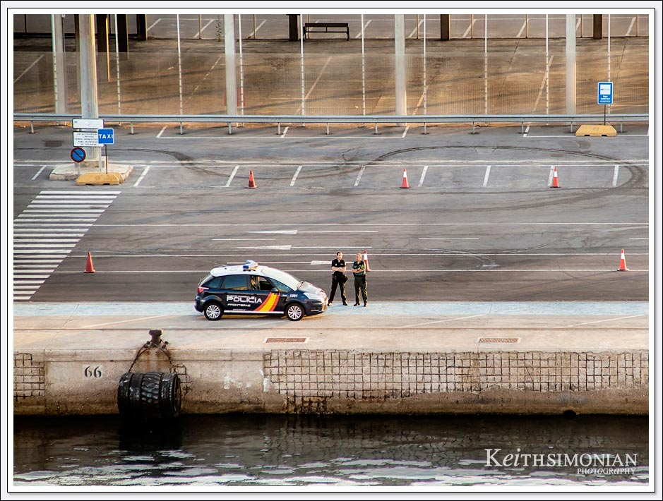 The police were waiting for us as we docked in Almeria, Spain