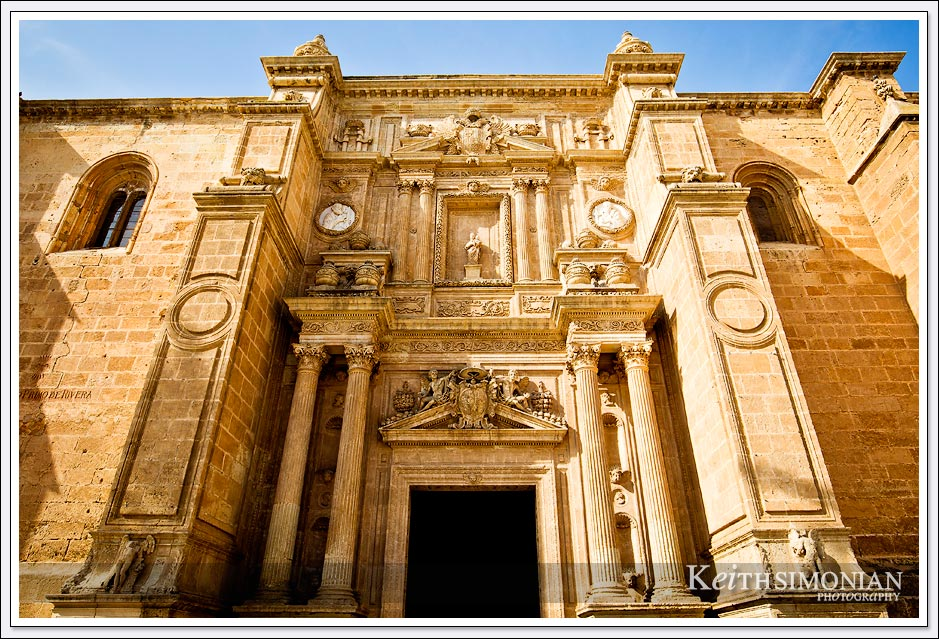 The Almería Cathedral completed in 1592 partly as a defensive fortress. - Almeria, Spain