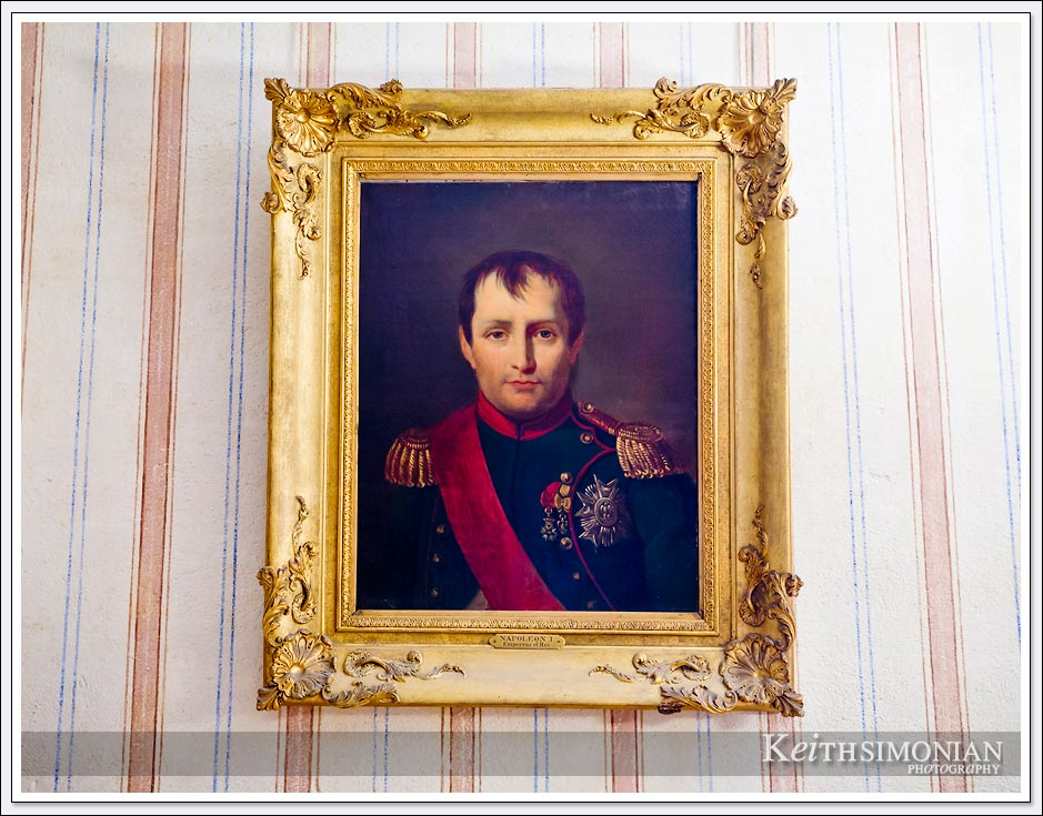 A simple portrait of Napoleon on the wall of his home in Ajaccio,France