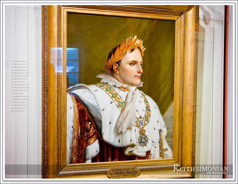 Portrait of Napoleon Bonaparte in his Ajaccio, France home.