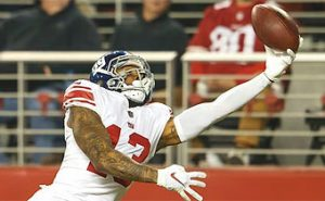 SF 49ers vs NY Giants –  Odell Beckham Jr. scores two touchdowns in Giants victory