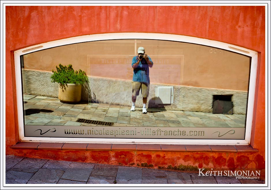 All the great photographers take a photo of their reflection when they visit Villefranche, France