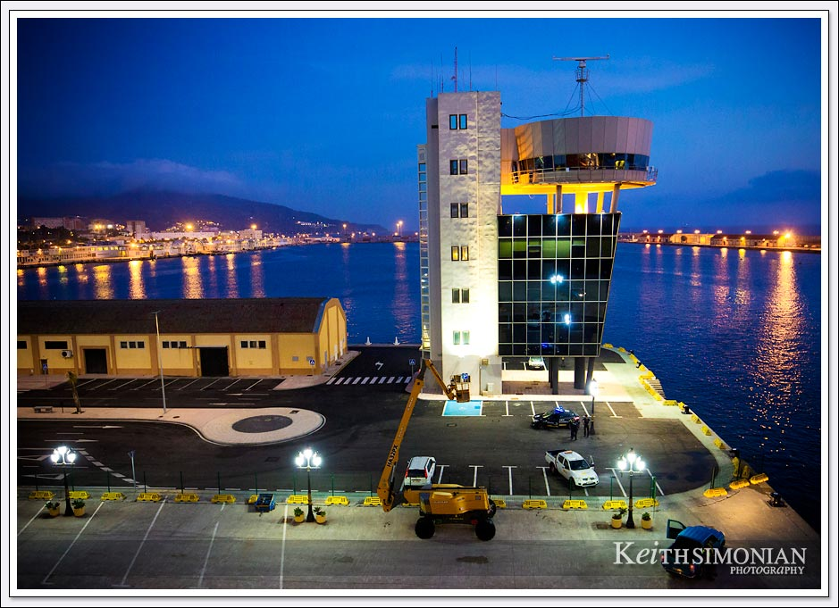 Control tower for the ships that dock in Ceuta Spain