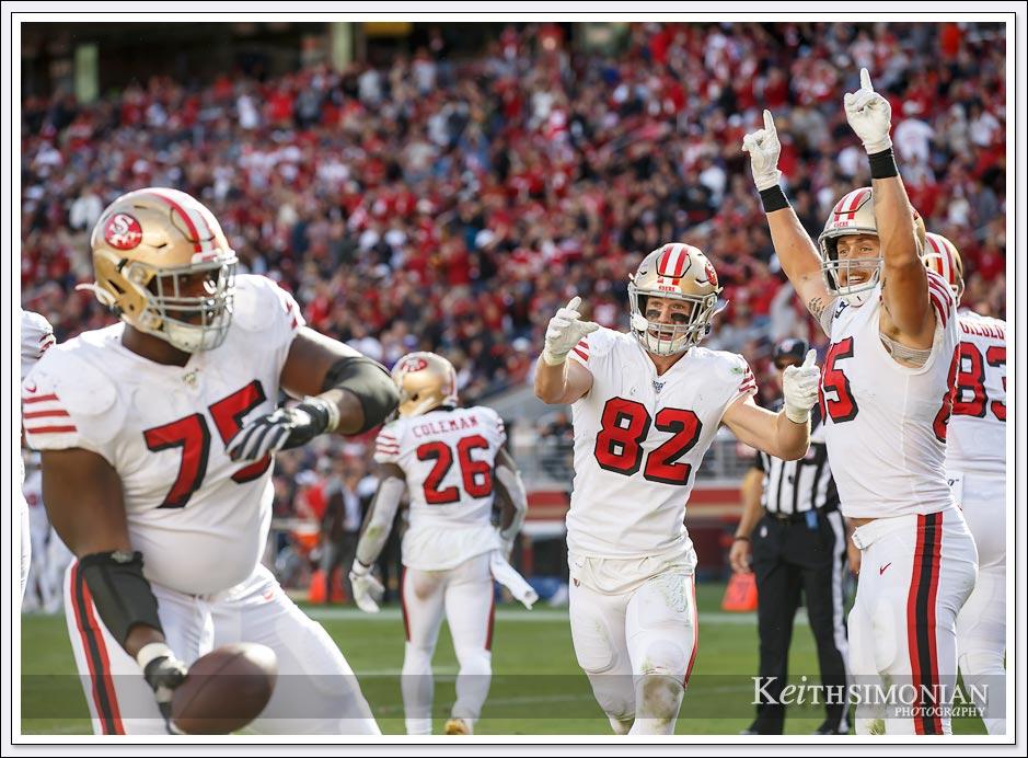 San Francisco 49ers touchdown celebration