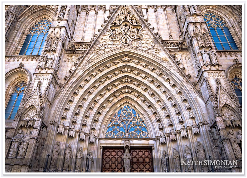 Maid door entrance of the Cathedral of Barcelona