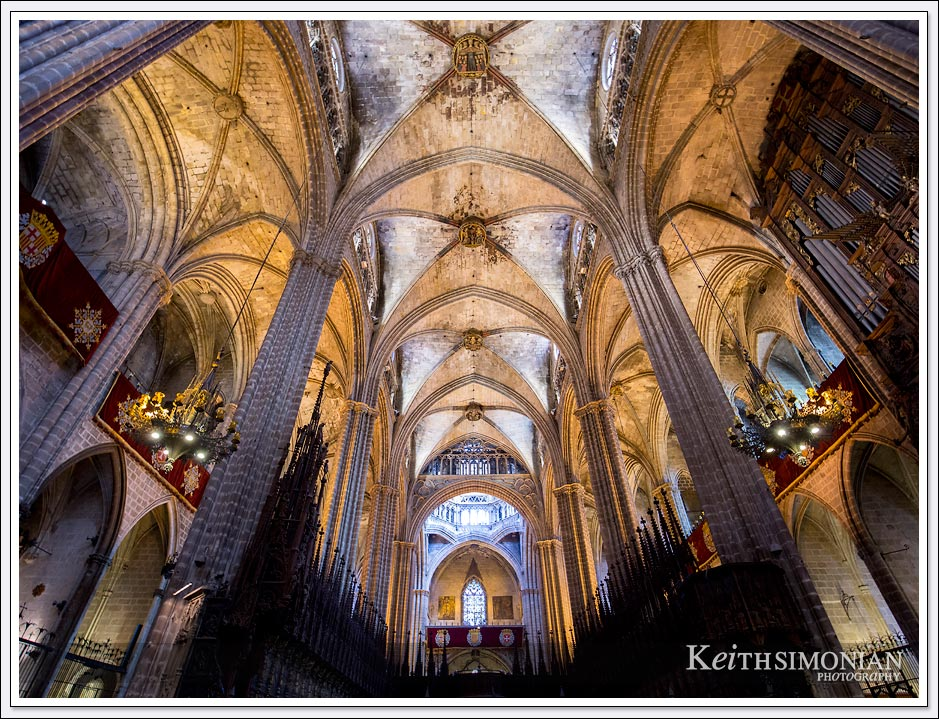 Interior photo of the Cathedral of Barcelona