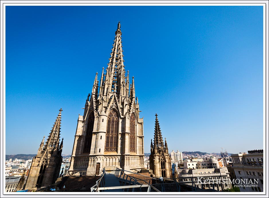 View from the rooftop of the Cathedral of Barcelona
