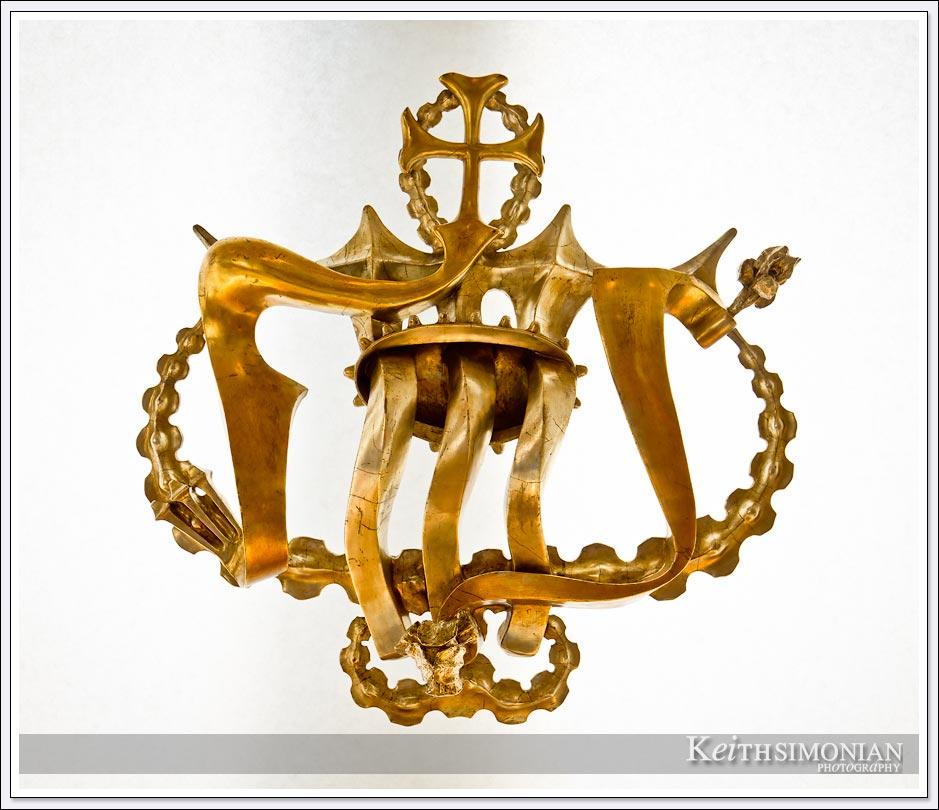 Crown jewel on display at the La Sagrada Familia - Barcelona, Spain